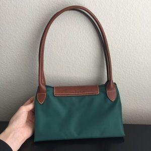 Longchamp Bags - Longchamp Nylon   Leather Tote Hunter Green 286fa25d8e201